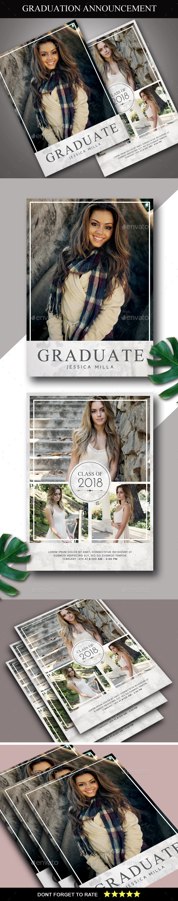 Graduation Announcement Card - Cards & Invites Print Templates