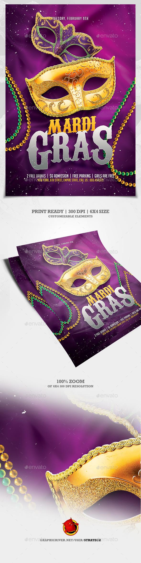 Mardi Gras Flyer - Print Templates