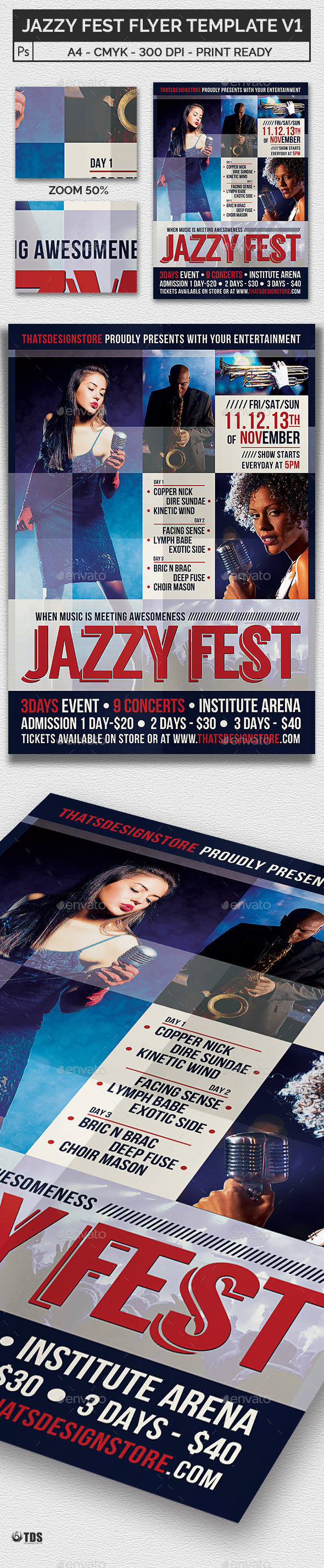 Jazzy Fest Flyer Template V1 - Concerts Events