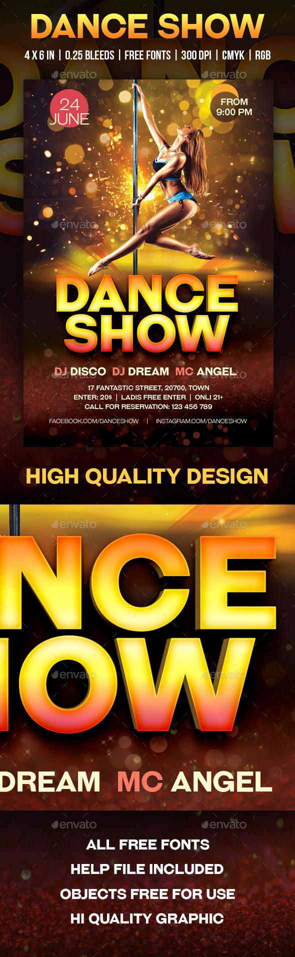 Dance Show - Flyers Print Templates