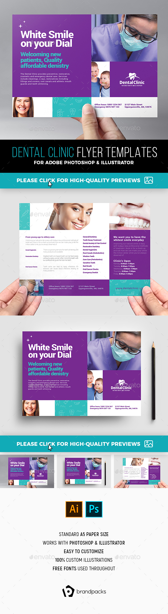 Dental Clinic Flyer Template - Corporate Flyers