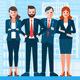 IT Business Flat Illustrations Set