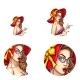 Vector Pop Art Avatar of Pin Up Girl