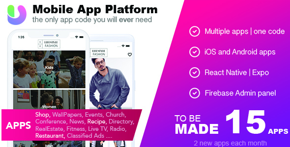 App Platform - All in one React Native Universal Mobile App - CodeCanyon Item for Sale