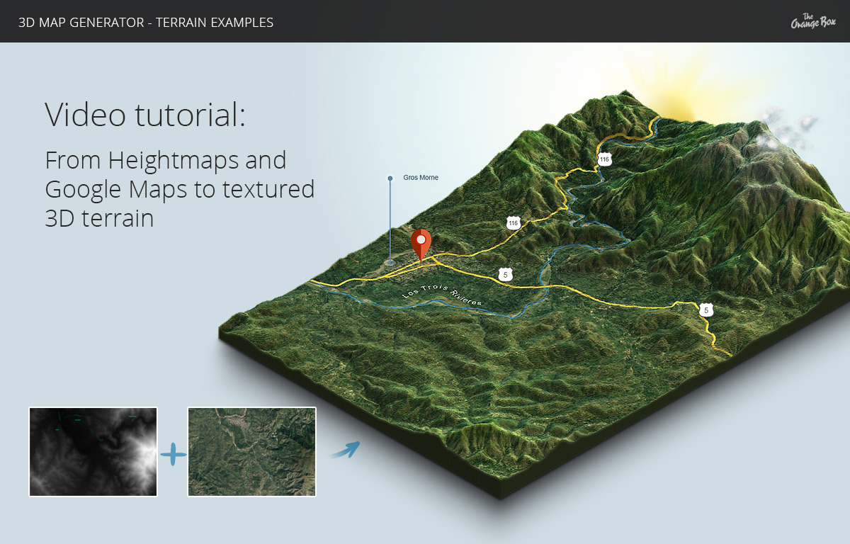 D Map Generator Terrain From Heightmap By OrangeBox GraphicRiver - Height map google maps