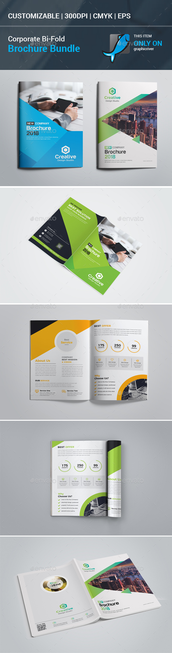 Bi-Fold Brochure Bundle - Corporate Brochures