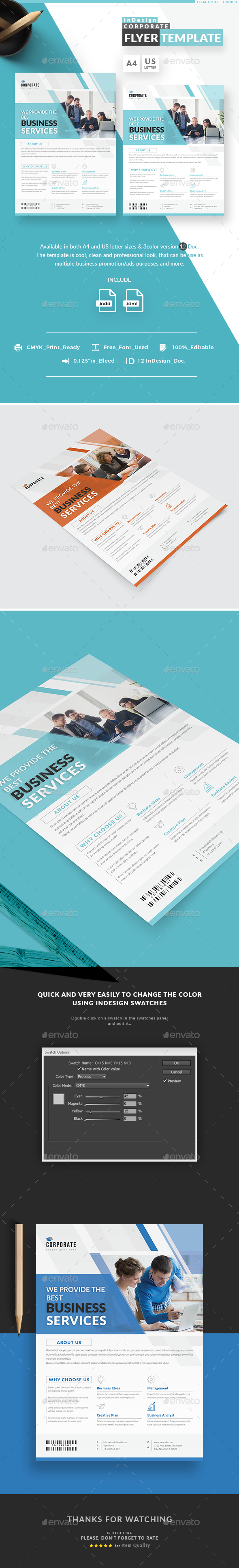 InDesign Corporate Flyer Templates - Corporate Flyers
