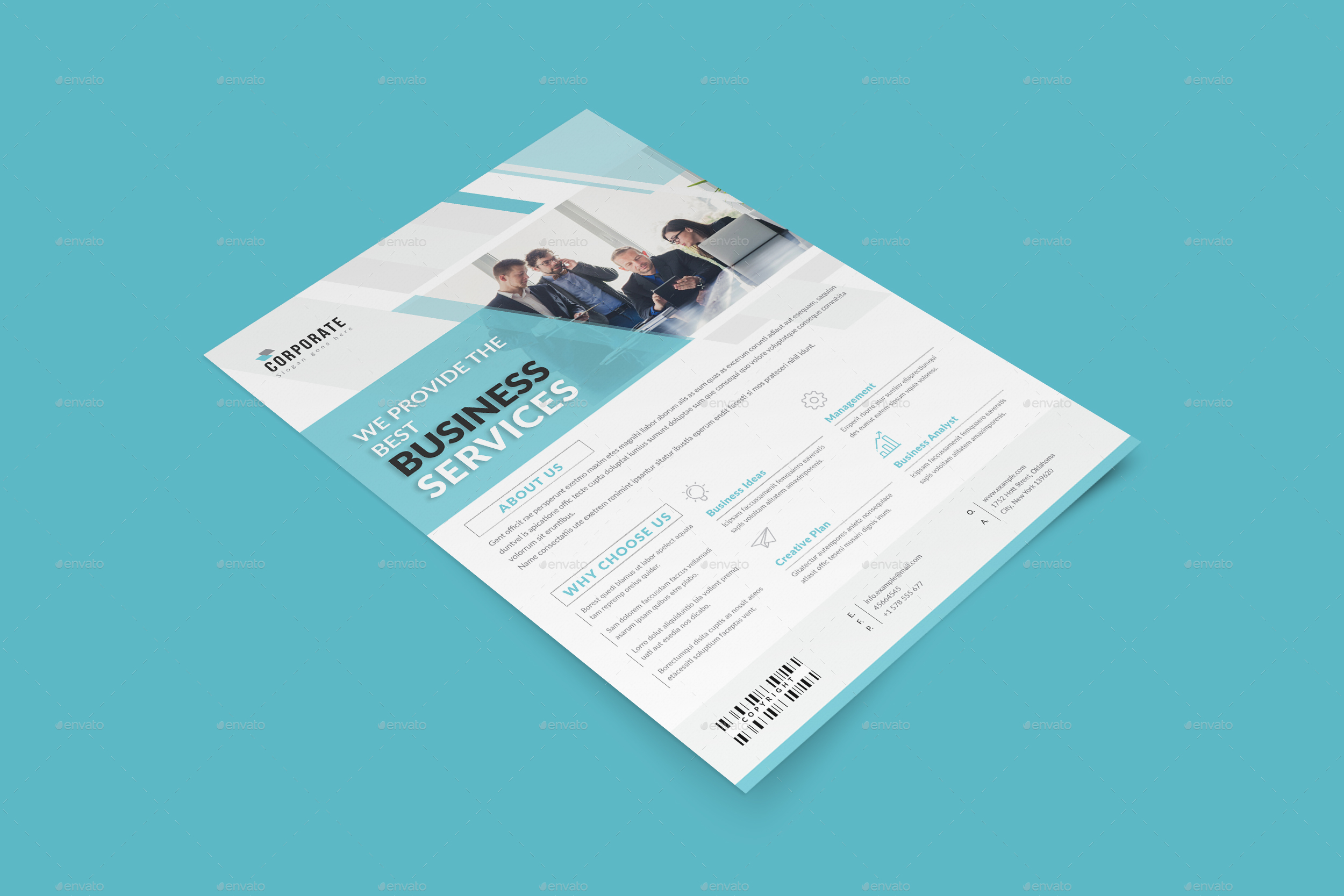 Indesign Corporate Flyer Templates By Graphhost Graphicriver