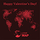 World Map with Hearts - GraphicRiver Item for Sale