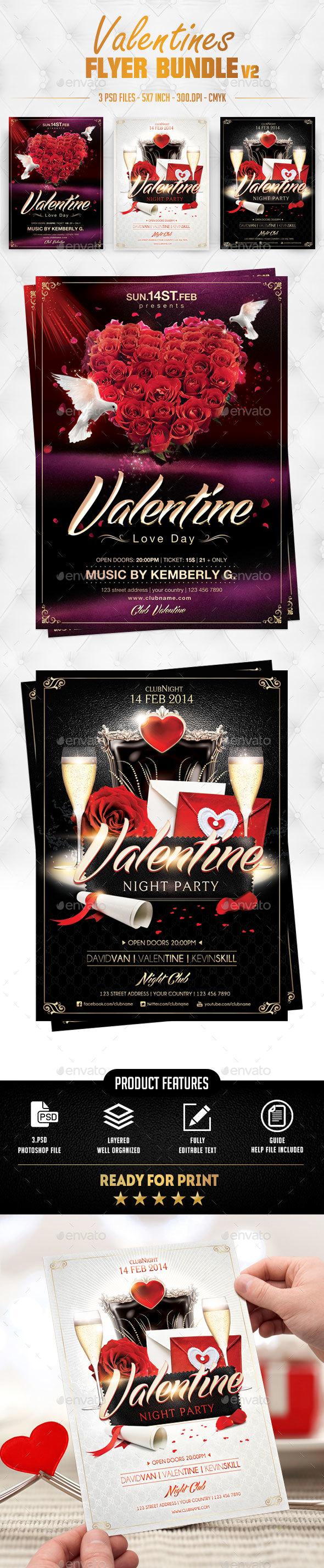Valentines Flyer Bundle v2 - Events Flyers