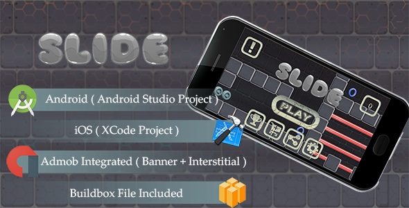SLIDE Game Template Android & iOS With Admob ( Android Studio + Xcode + Buildbox ) - CodeCanyon Item for Sale