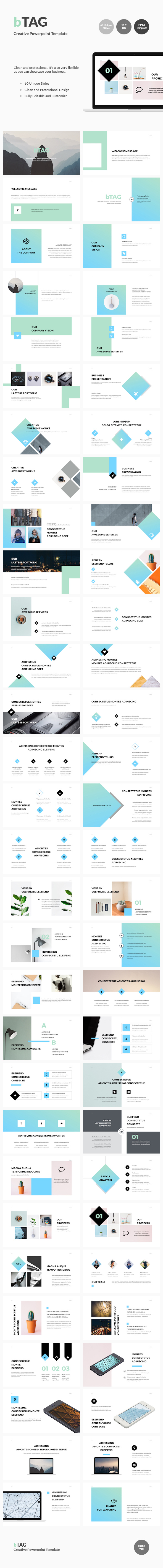 bTAG - Creative Powerpoint Template - Business PowerPoint Templates