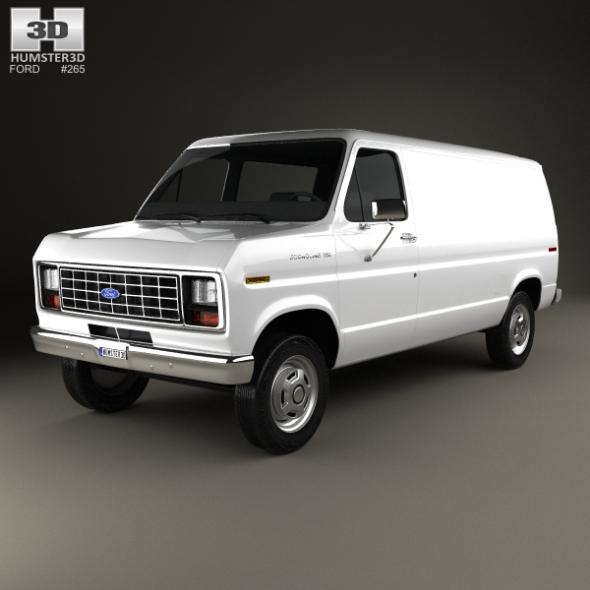 Ford E-Series Econoline Cargo Van 1986 - 3DOcean Item for Sale