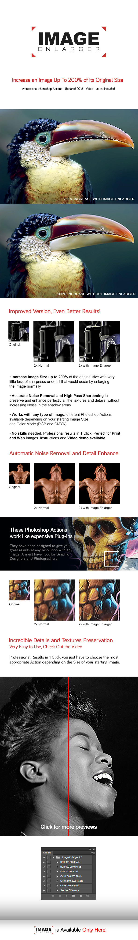 Image Enlarger - Perfect Image Size Increase - Actions - Photo Effects Actions