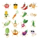 Vegetables - Vector Isolated Cartoons - GraphicRiver Item for Sale