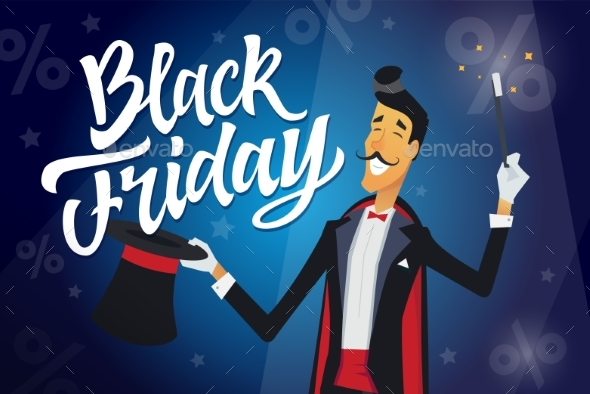 Black Friday - Cartoon Character - Retail Commercial / Shopping