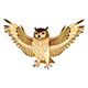 Owl with Opened Wings - GraphicRiver Item for Sale