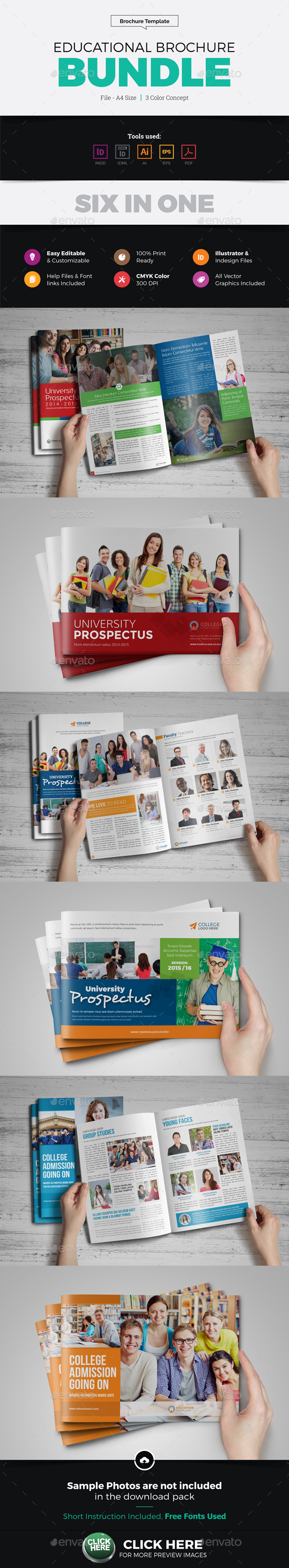 Educational Prospectus Brochure Bundle - Corporate Brochures