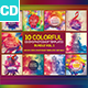 10 Colorful CD/DVD Photoshop Templates Vol 1