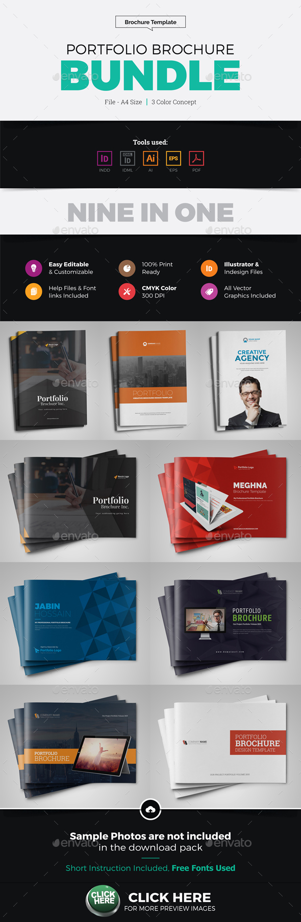 Portfolio Brochure Catalog Bundle - Corporate Brochures