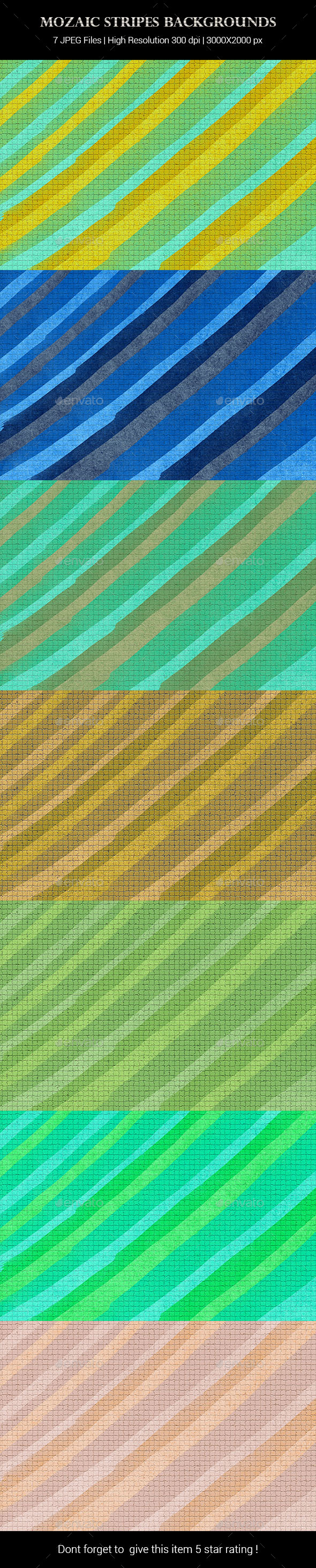 Mozaic Stripes Backgrounds - Backgrounds Graphics