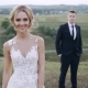 Bride and Groom Stand Apart on the Pass on Green Hill - VideoHive Item for Sale