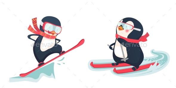 Penguin Winter Sport Set - Sports/Activity Conceptual