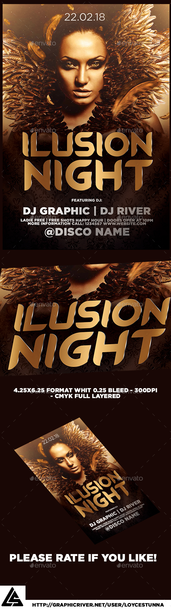 Ilusion Night Flyer Template - Print Templates