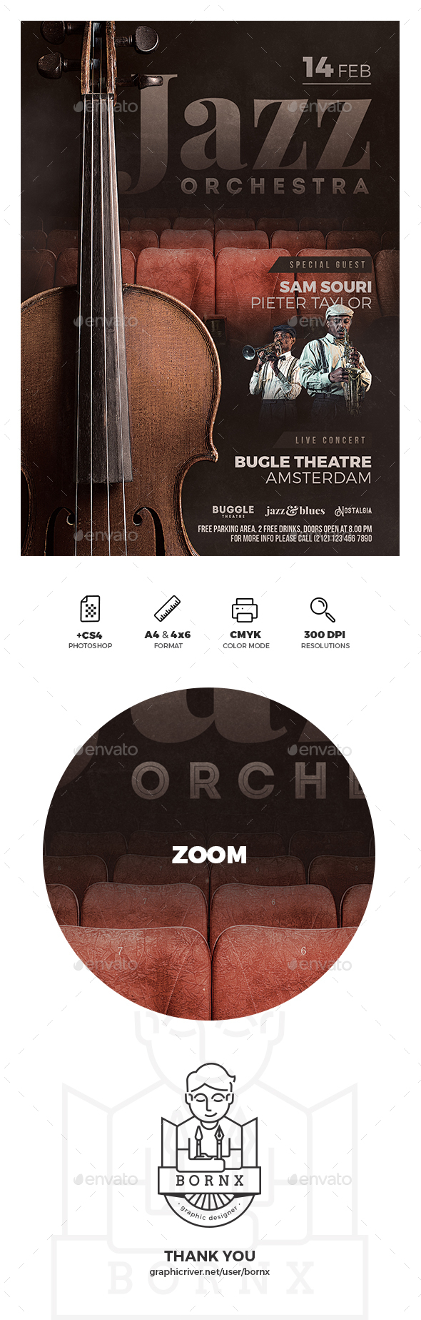 Jazz Orchestra Flyer - Concerts Events