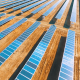 Aerial Flying Over Solar Panels - VideoHive Item for Sale