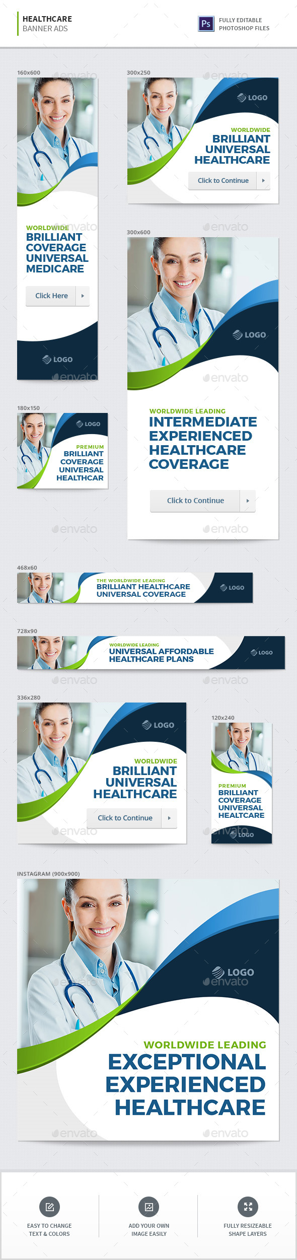 Healthcare Banners - Banners & Ads Web Elements