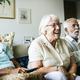 Senior people watching televison together - PhotoDune Item for Sale