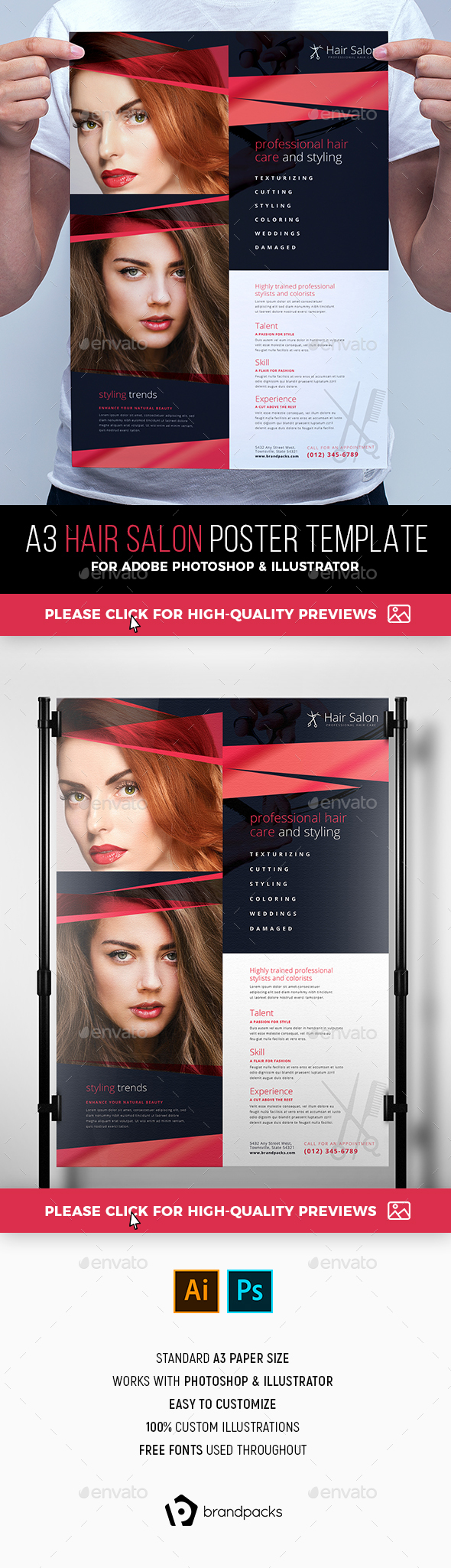 Hair Salon Poster Template - Commerce Flyers