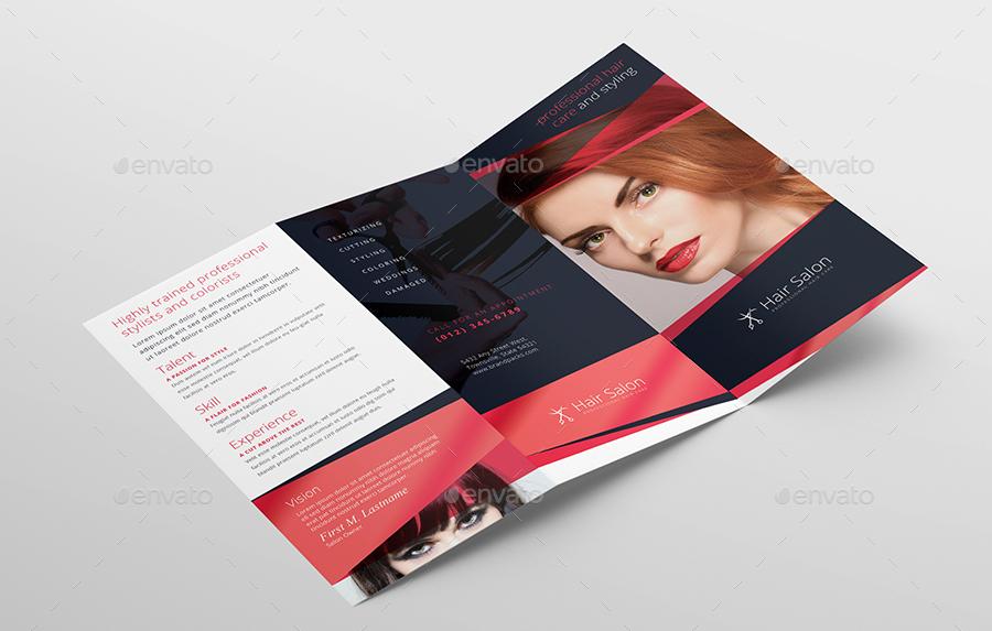 Hair Salon Tri Fold Brochure Template By Brandpacks Graphicriver