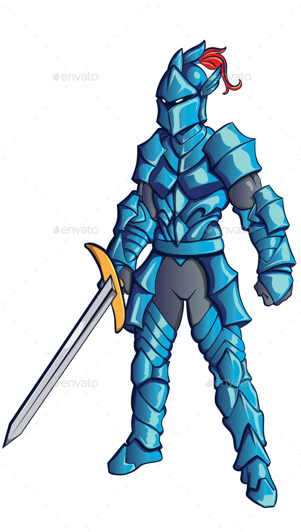 Vector Knight  Clip Art - People Characters