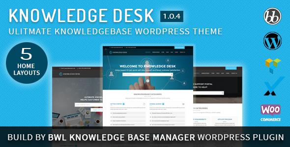 Knowledgedesk - Knowledge Base WordPress Theme