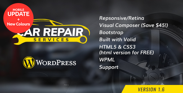 Top 13+ Responsive Auto Repair Shop WordPress Themes