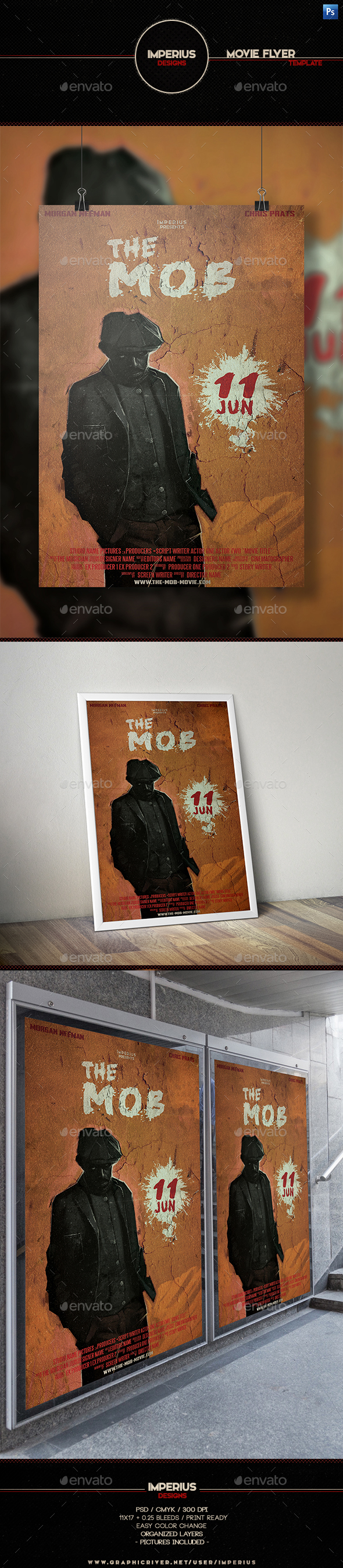 The Mob Movie Flyer - Flyers Print Templates