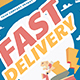 Delivery Courier Flyer - GraphicRiver Item for Sale
