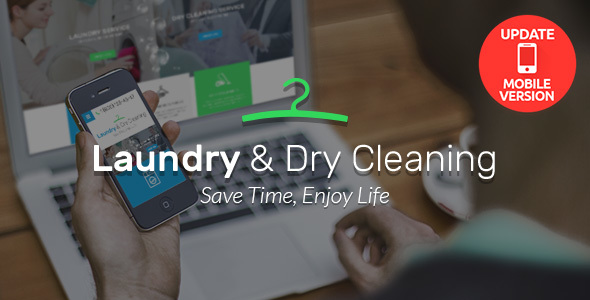Laundry, Dry Cleaning services HTML website template