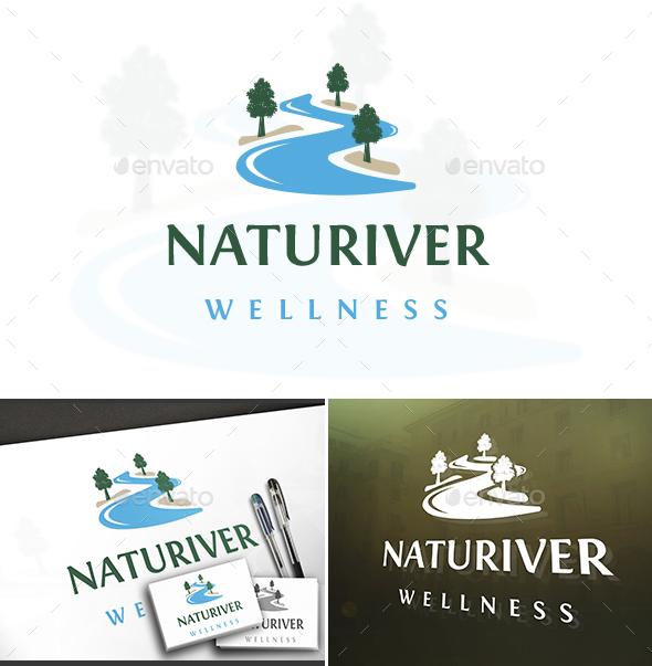 Natural River Logo - Nature Logo Templates