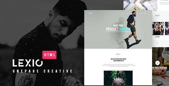 Lexio - Onepage Creative HTML Template