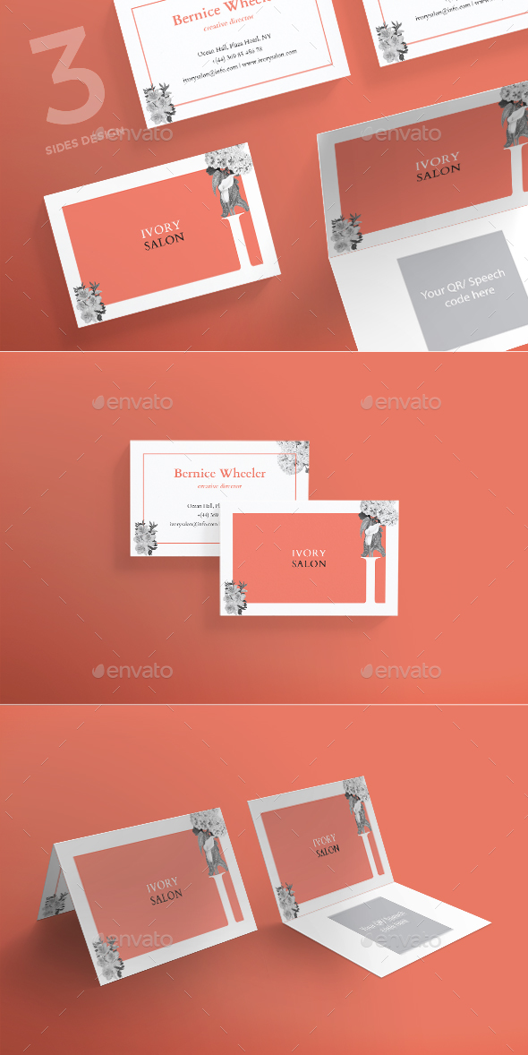 Ivory Salon Business Card - Corporate Business Cards