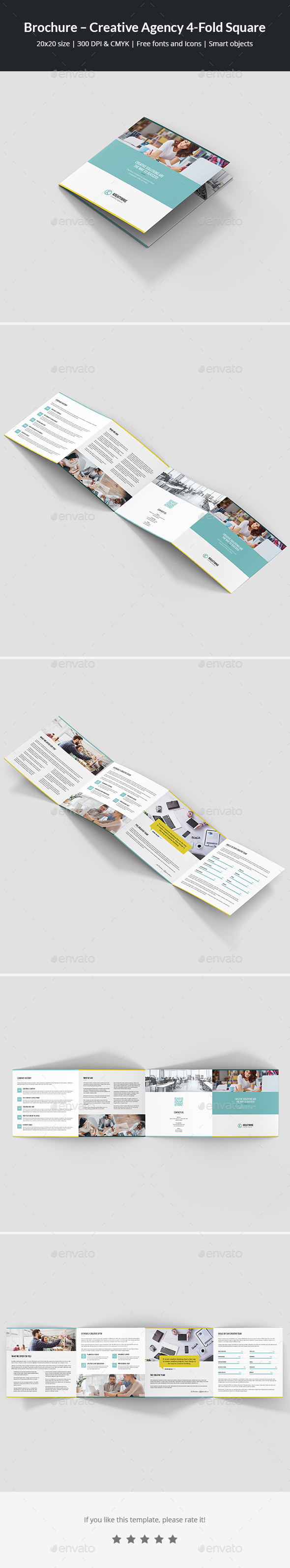 Brochure – Creative Agency 4-Fold Square - Corporate Brochures