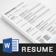 Resume Word - GraphicRiver Item for Sale