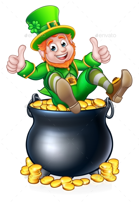 Pot of gold st patricks day leprechaun by krisdog graphicriver pot of gold st patricks day leprechaun seasonsholidays conceptual altavistaventures