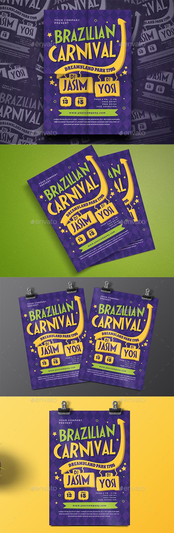 Brazilian Carnival Flyer - Events Flyers