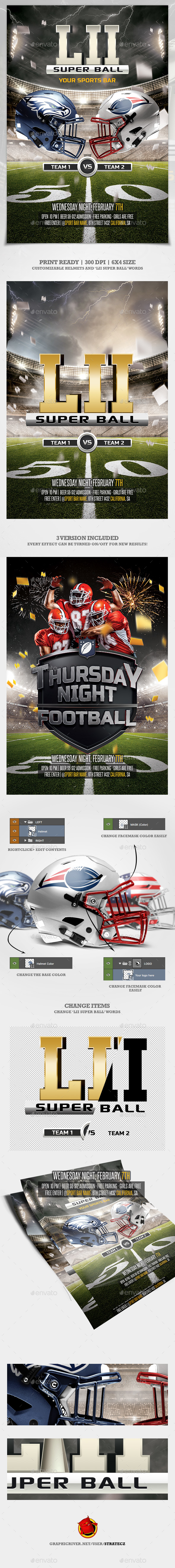 American Football flyer  / Super Bowl - Print Templates