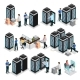 Isometric Data Center Collection - GraphicRiver Item for Sale