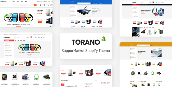 Torano – Supermarket Marketplace Ultimate Shopify Theme Section Ready